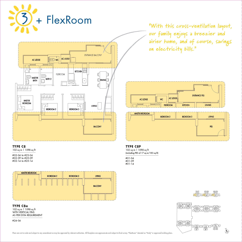 3 + Flexroom