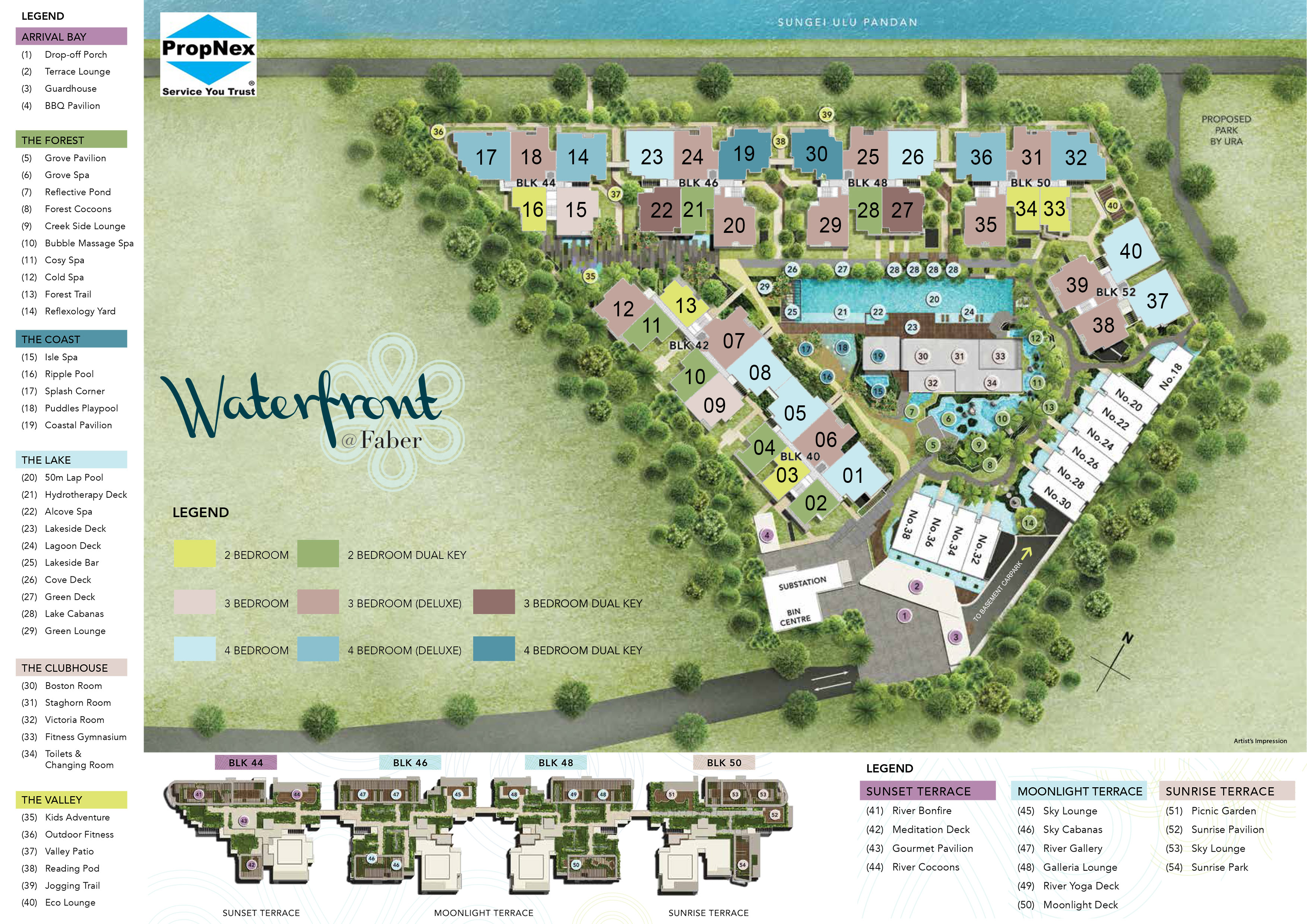 Waterfront at Faber Site plan