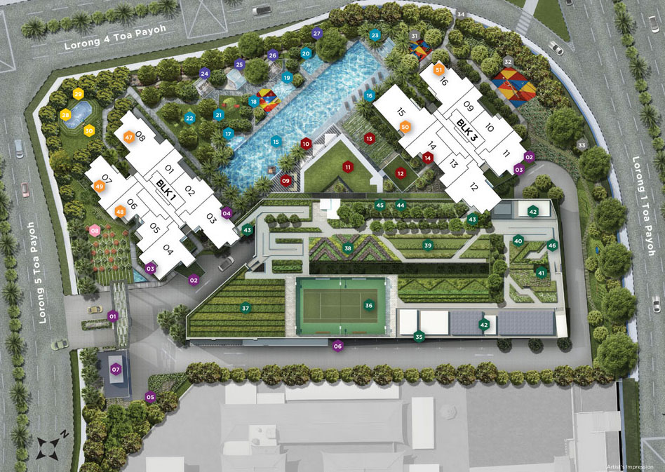 SIte Plan of Gem Residences