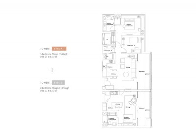 1 Bedroom - Type A1b