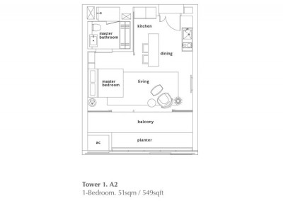 1 Bedroom - Type A2