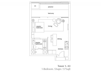 1 Bedroom - Type A4