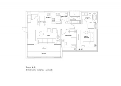 2 Bedroom - Type B