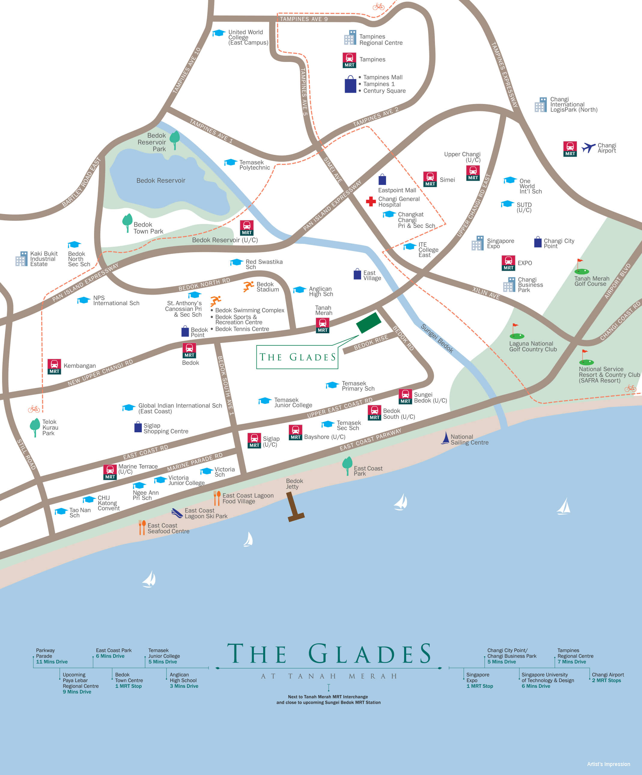 Location Map of The Glades