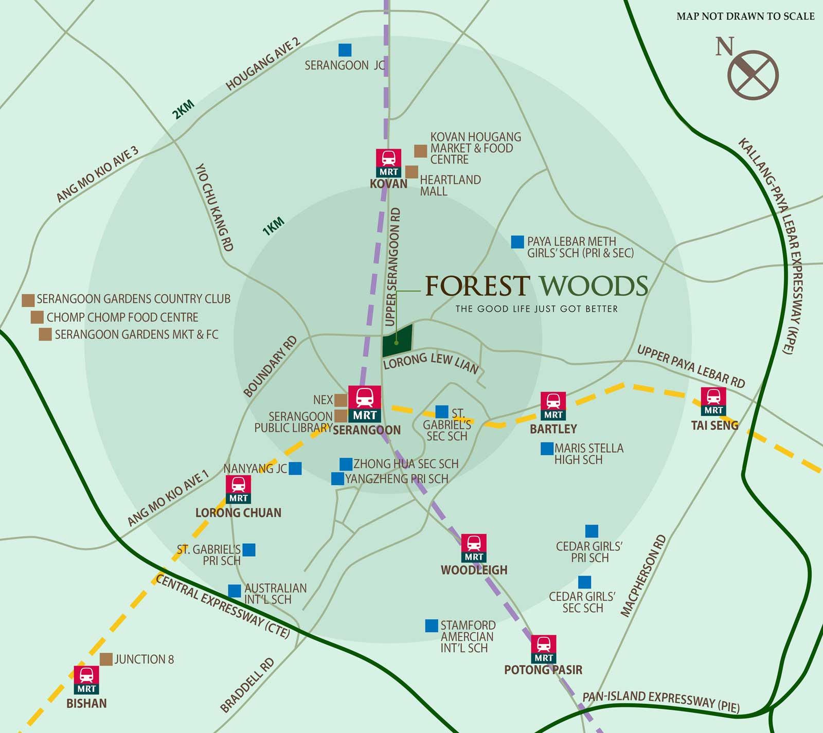 Location Map of Forest Woods at Serangoon