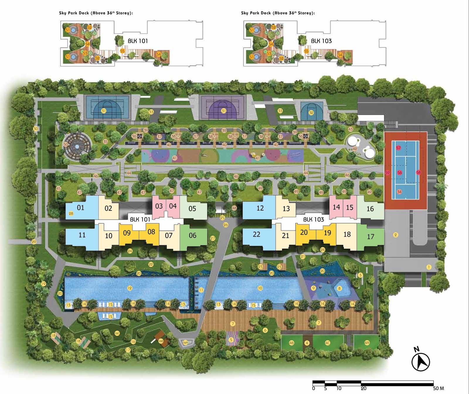 Site Plan of Parc Riviera