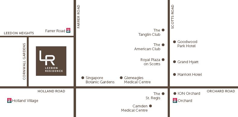 Location Map of Leedon Residence