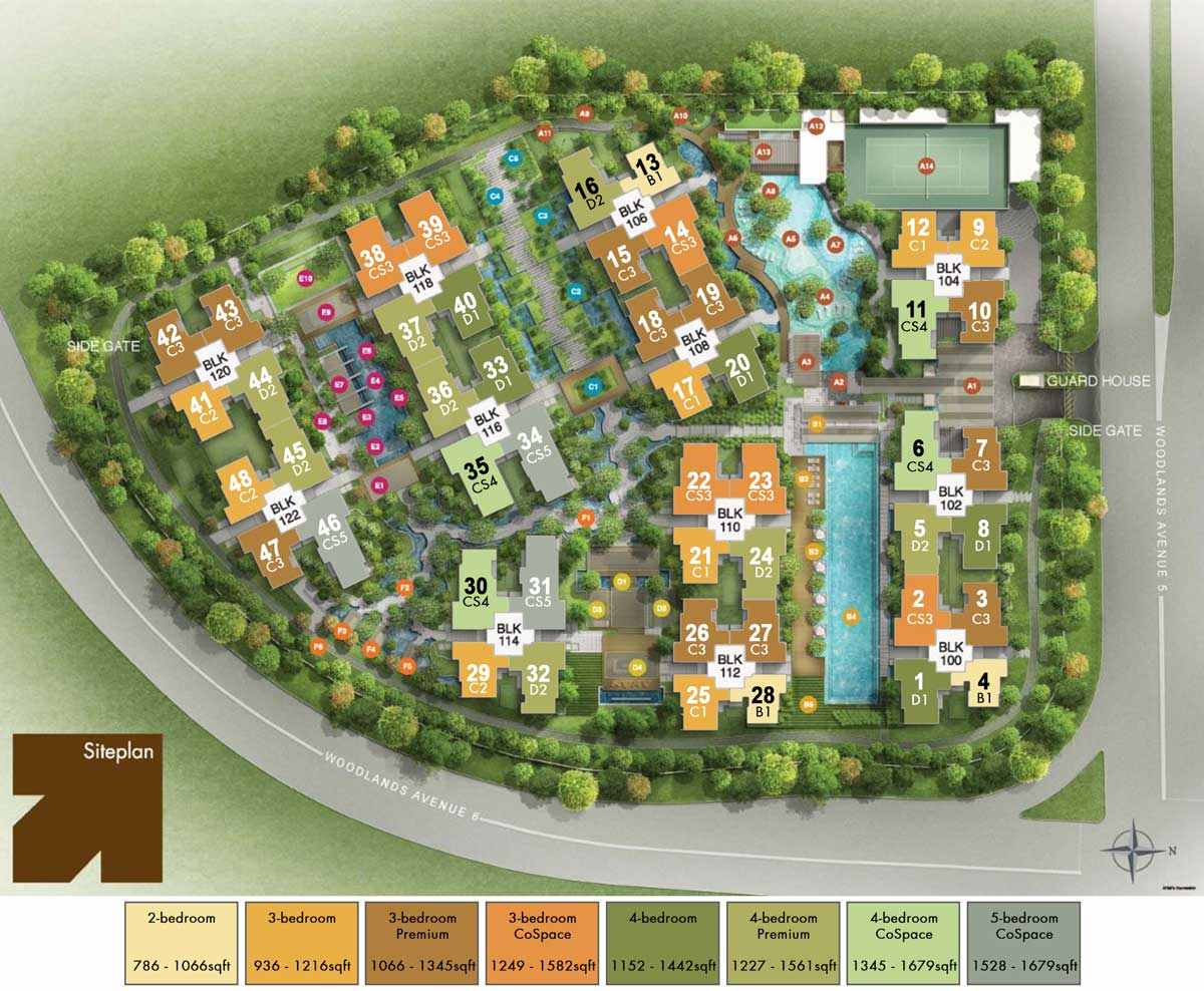 Site Plan of Bellewoods