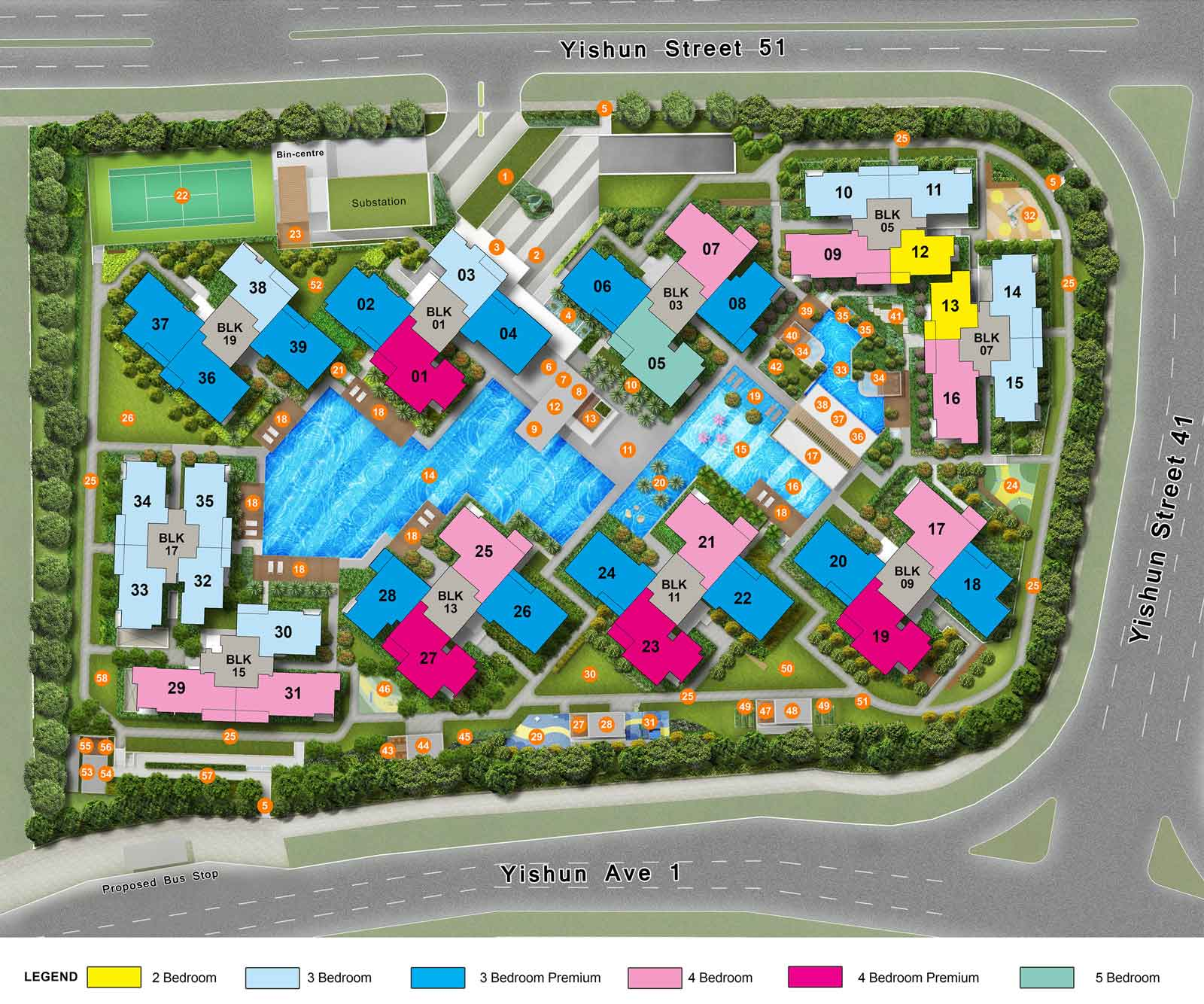 Site Plan of The Criterion EC at Yishun