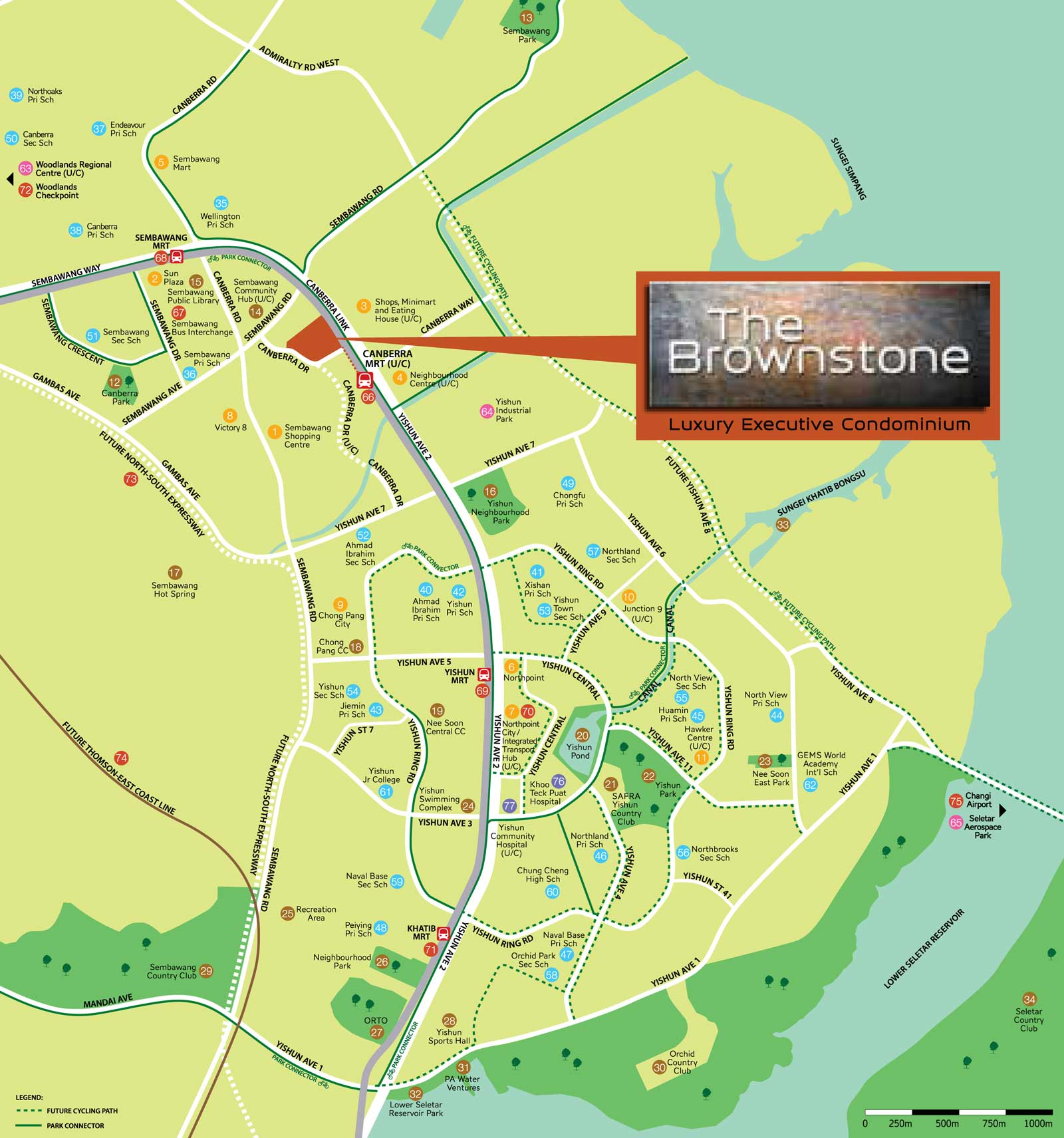 Location Map of The Brownstone EC