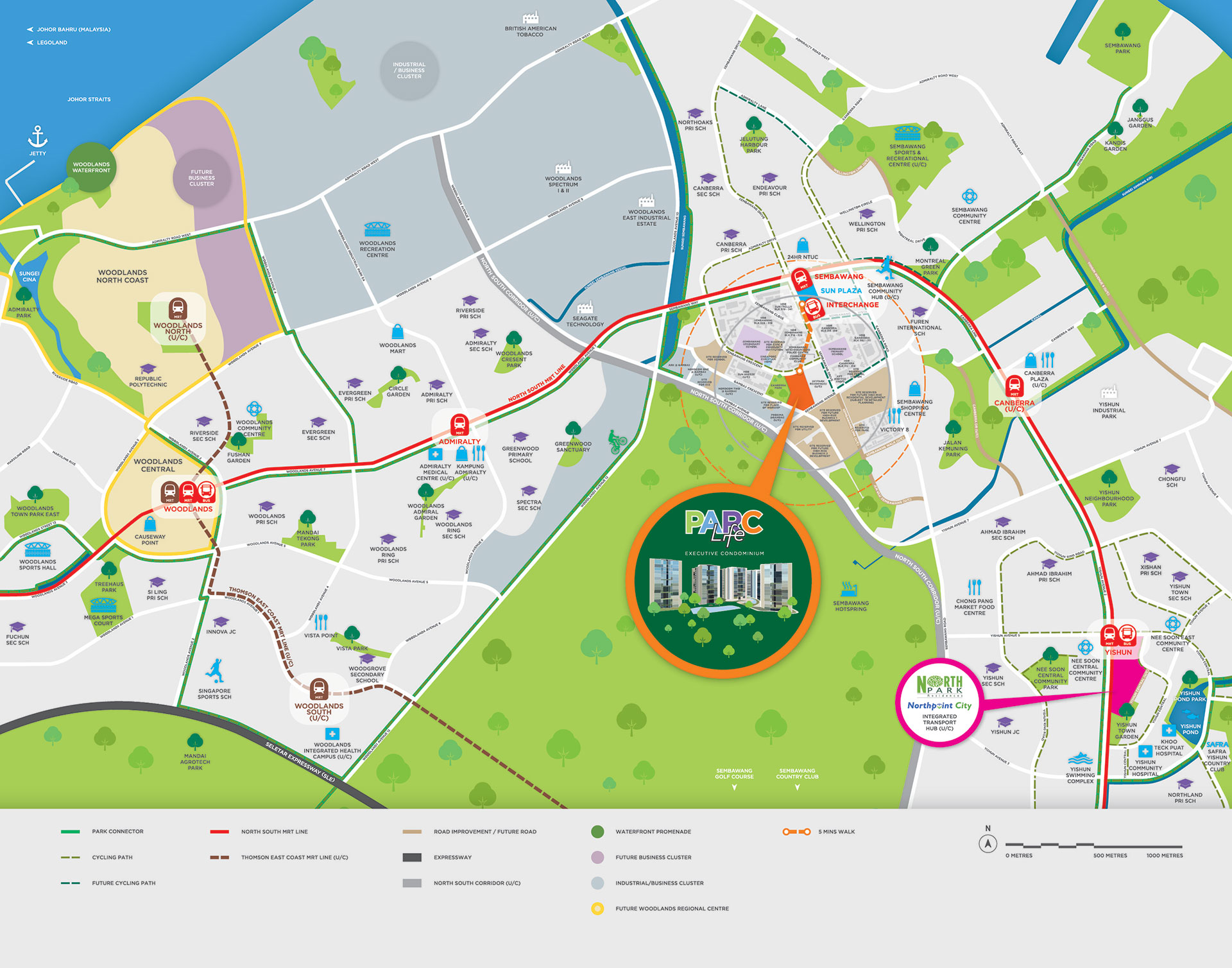 Location Map of Parc Life