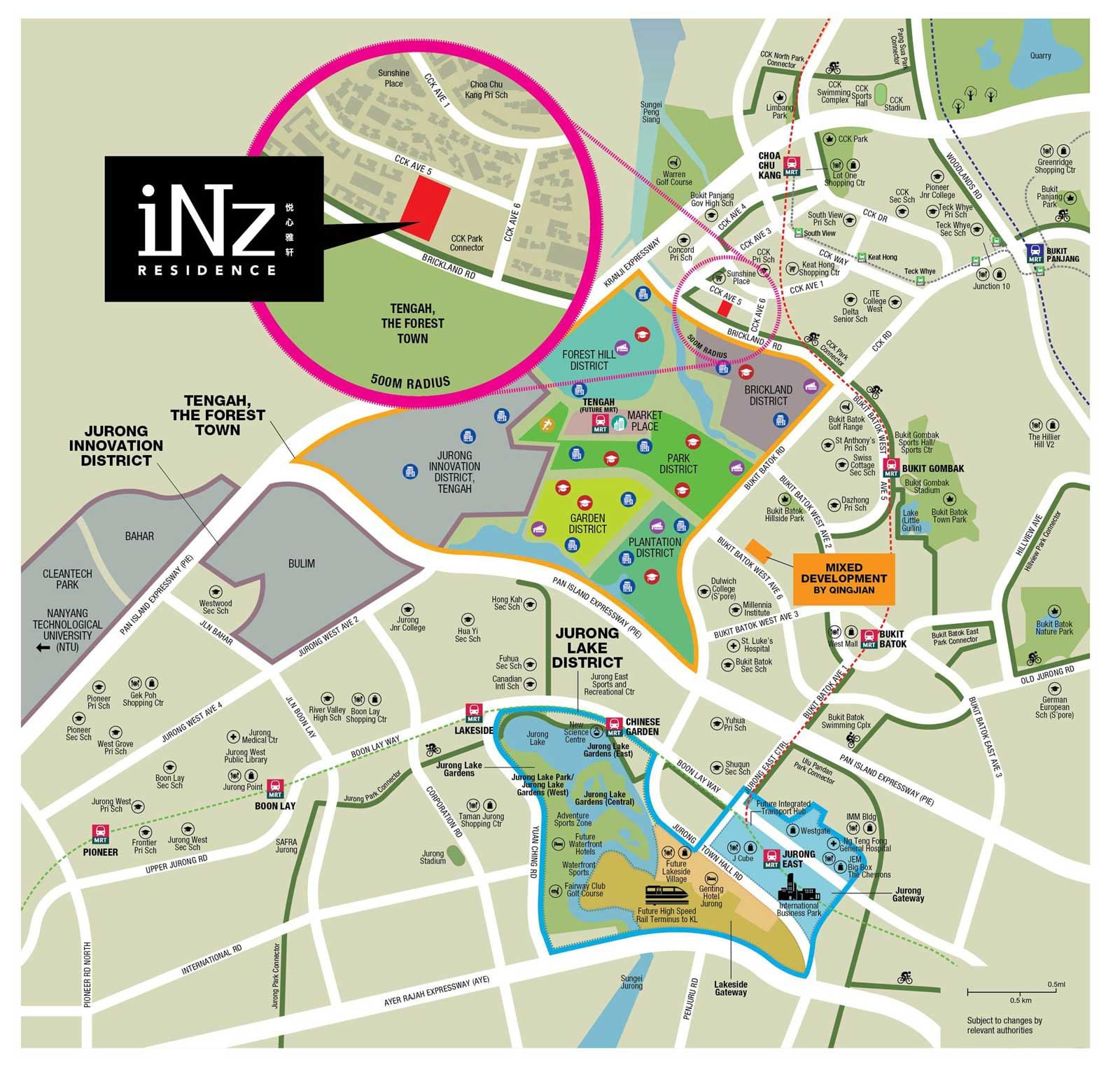 Location Map of iNZ Residences