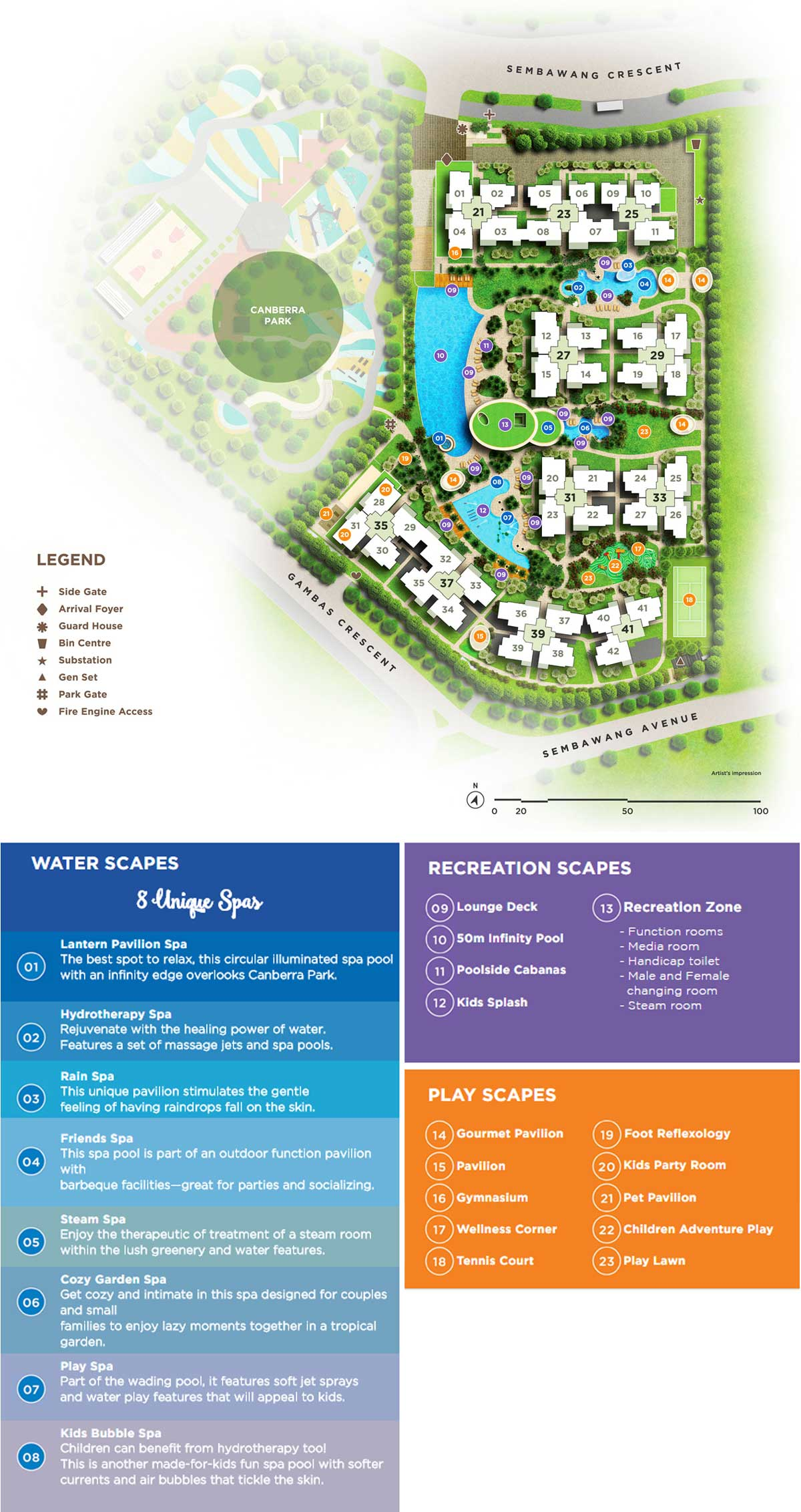 Site Plan of iNZ Residences
