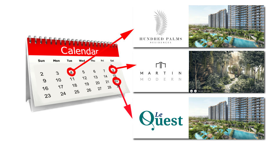 Project Launches in July 2017 – Hundred Palms Residences, Le Quest & Martin Modern