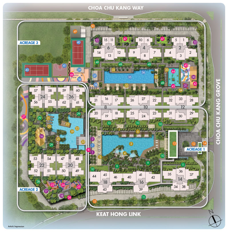 Site Map of Sol Acres